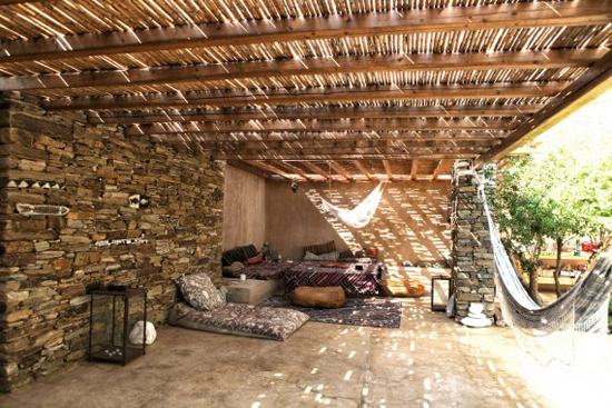 A bohemian rental villa for summer vacation in Lychnaftia beach, Tinos island, Aegean. #Greece