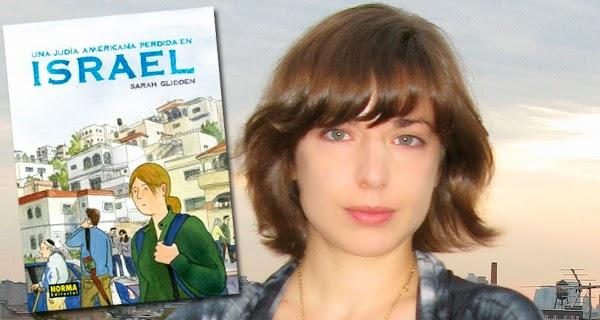 """Sarah Glidden  y la portada de """"Una judía americana perdida en Israel"""","""