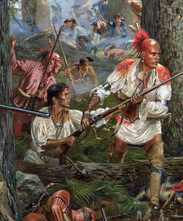 ... and tomahawk: Close up of Don Troiani's battle of Oriskany painting