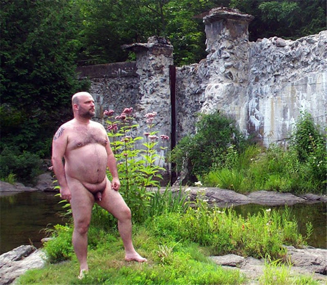 Naturebear01 Sexy Naked Chubby Bear Photos in Nature