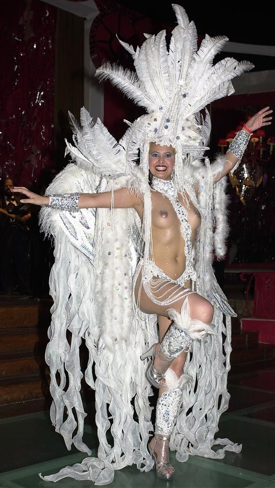 Rio Carnival 2001, Anna Flavia Tarcitano at the Black Tie Ball.