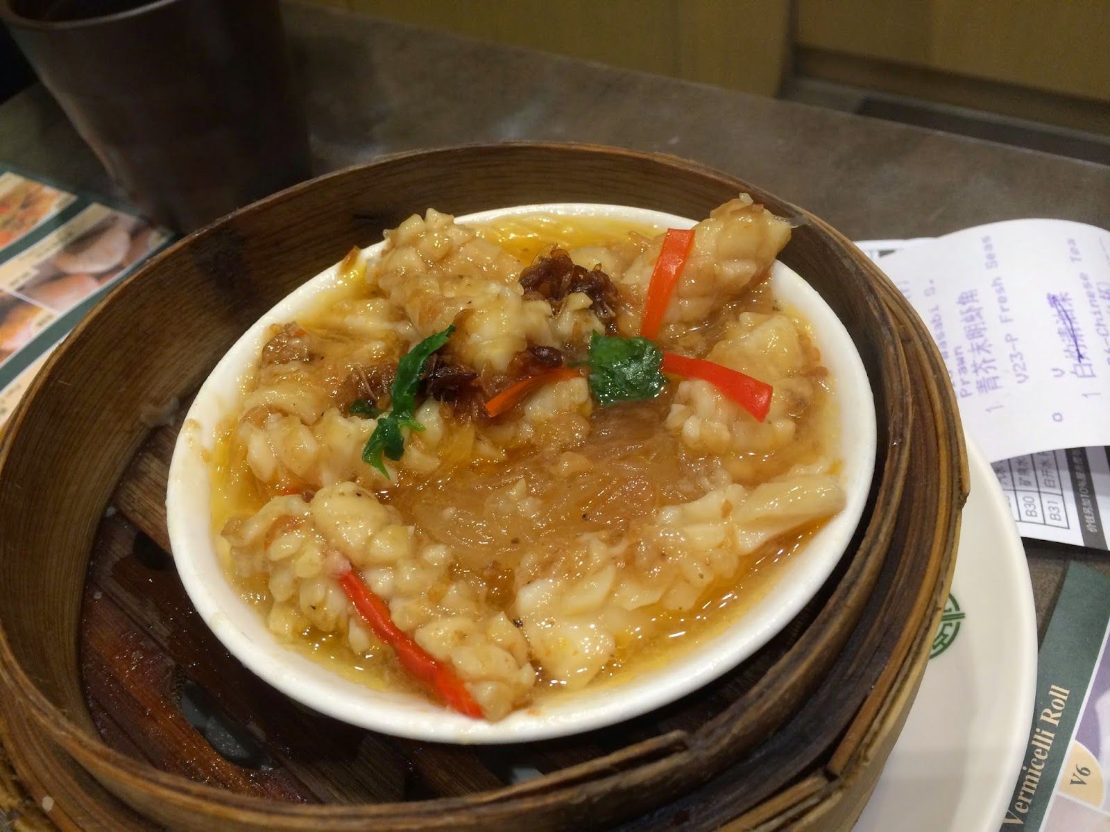 Squid in XO sauce at Tim Ho Wan