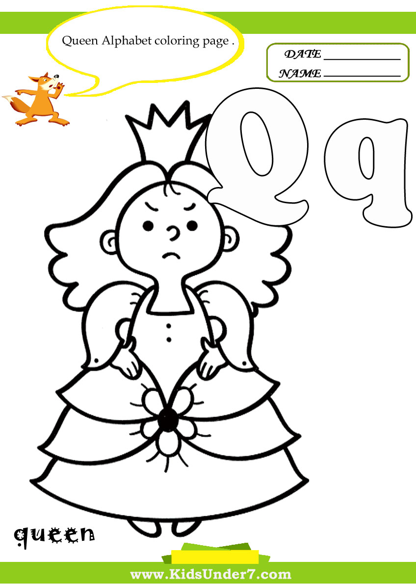 Kids Under 7 Letter Q Worksheets and Coloring Pages – Letter Q Worksheet