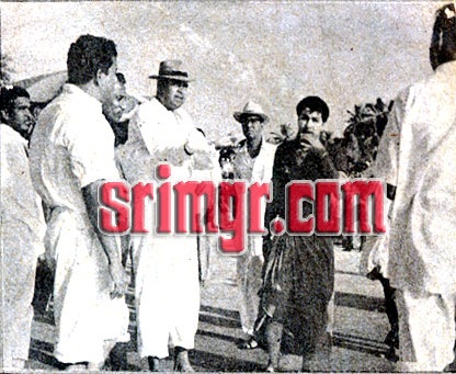 MGR in 'Padagotti' Shooting Spot