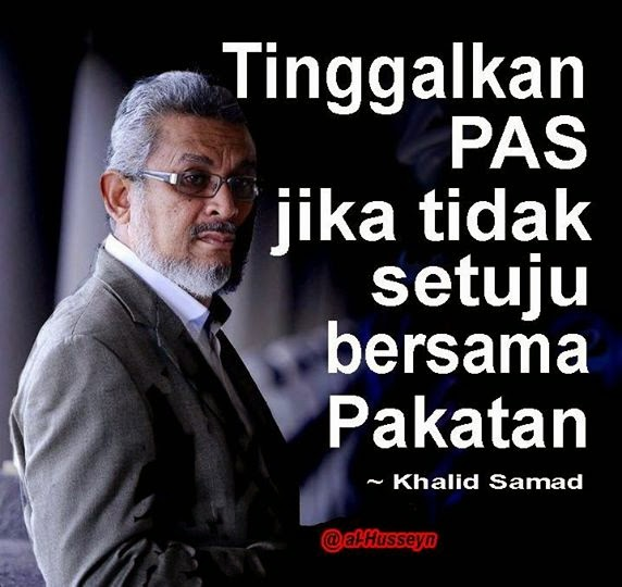 MUKTAMIRIN SHOULD LEAVE PAS IF AGAINST ONE BANGSA MALAYSIA PAKATAN! DON B HYPOCRITES N SNEAKERS !!