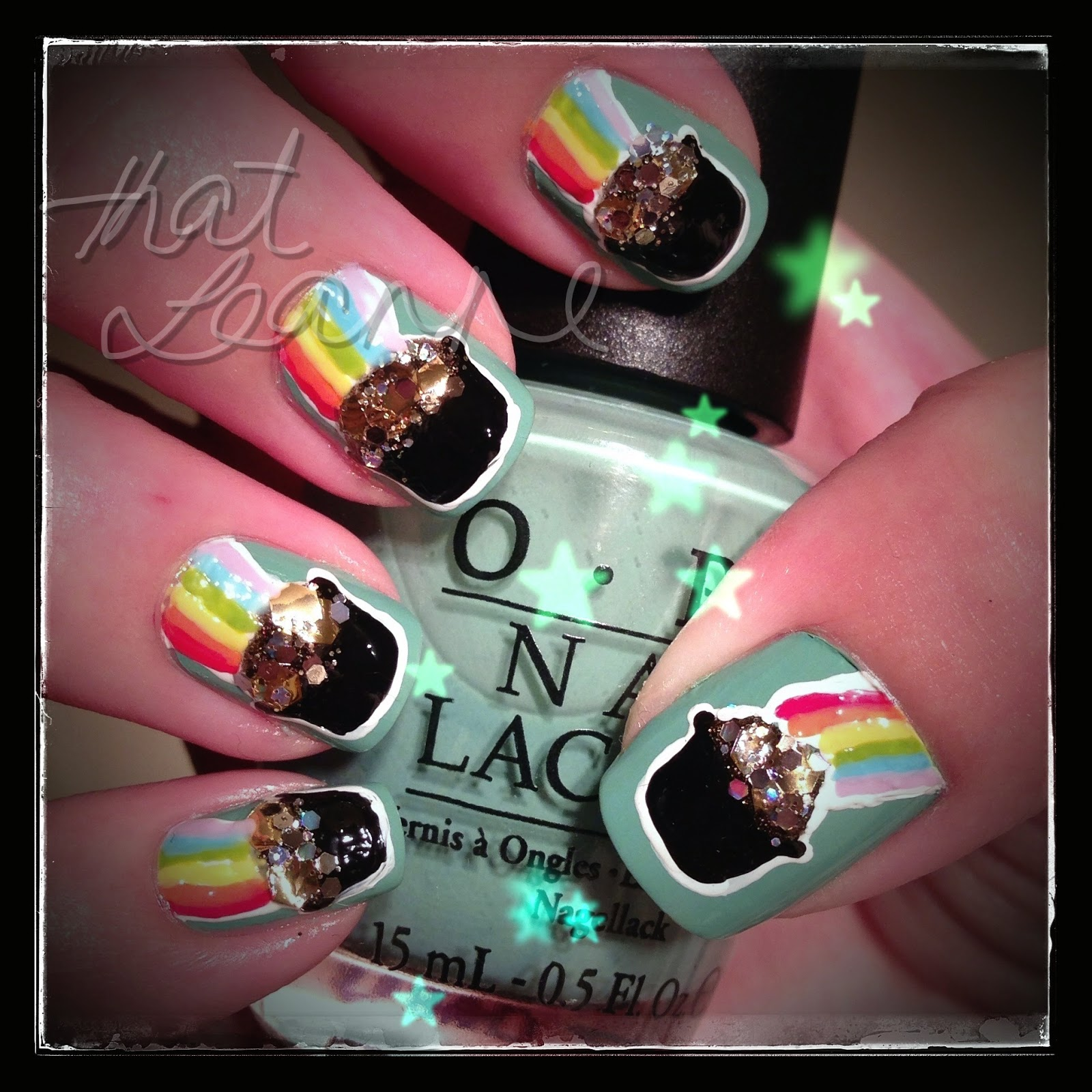 Thatleanne St Patricks Day Nail Art Pot Of Gold