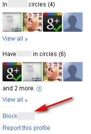 Google+: Block person