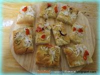 Focaccia con cipolla e pomodoro