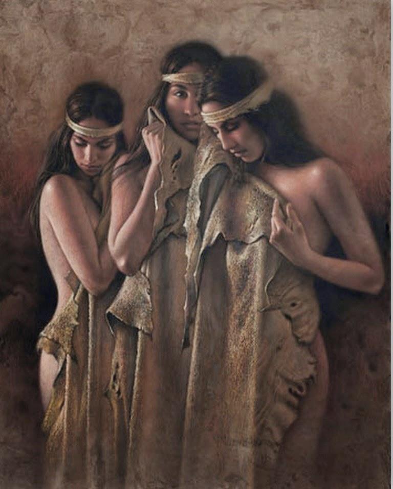 pinturas-de-mujeres-indigenas-al-oleo