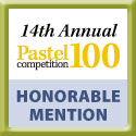 Colette Theriault wins honorable mention award in the Pastel 100 competition