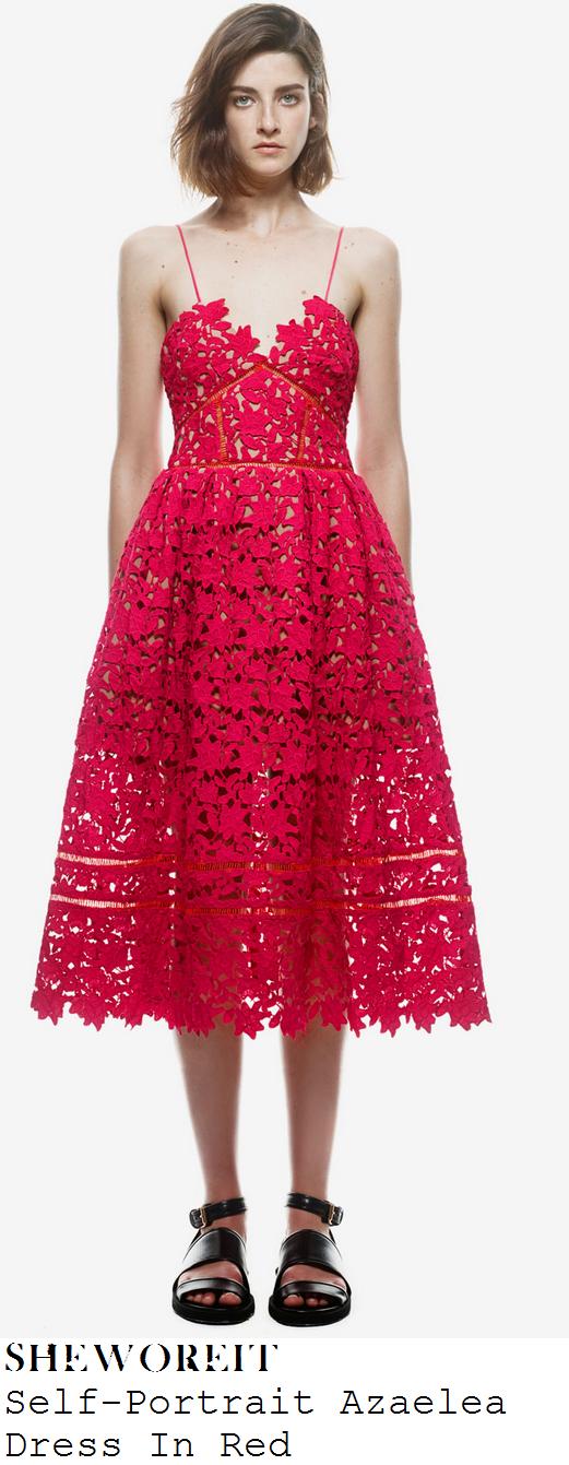 nadia-forde-red-lace-sleeveless-v-neck-full-skirt-midi-dress
