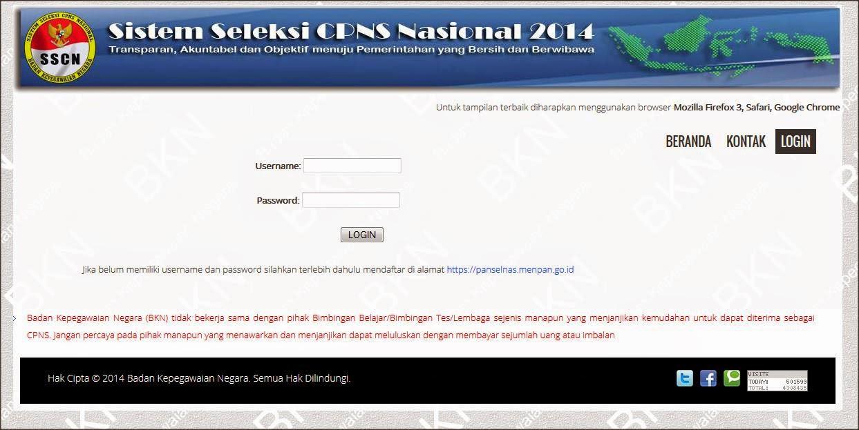Test CPNS online