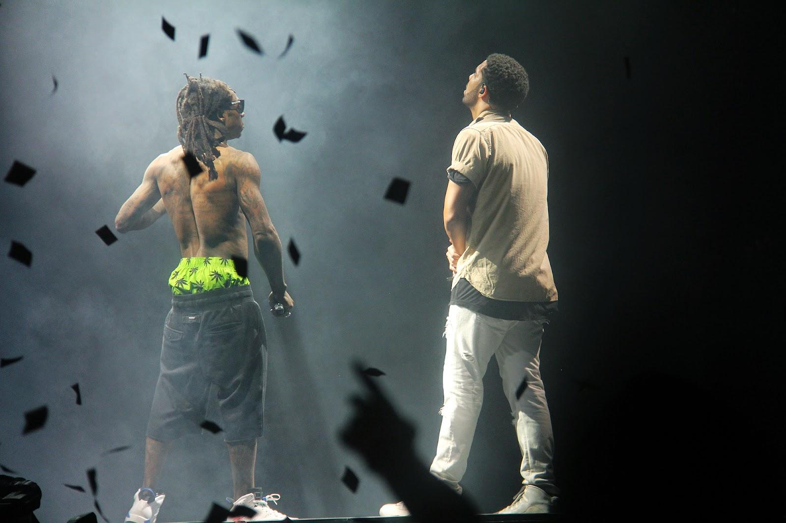 fotos del concierto drake vs lil wayne en buffalo gira tour drake lil wayne
