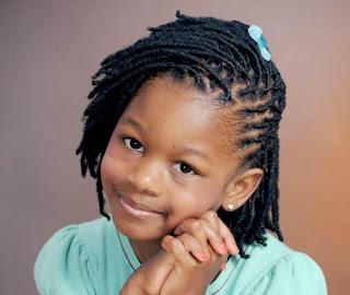 Gaya rambut keriting cantik untuk anak cewek