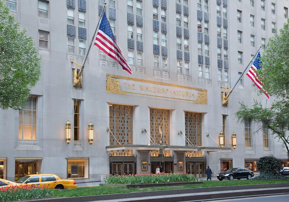 Waldorf Astoria New York hotel (in reality)