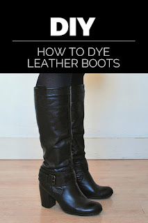DIY: how to dye your leather boots and bring them back to life!