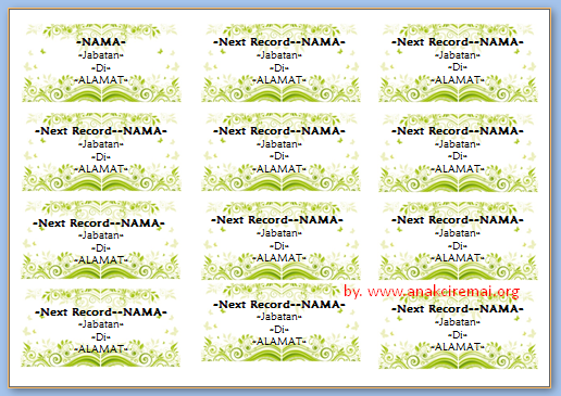 stiker undangan bergambar