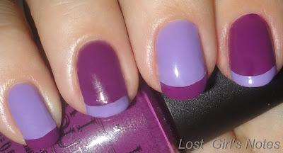 funky color block manicure