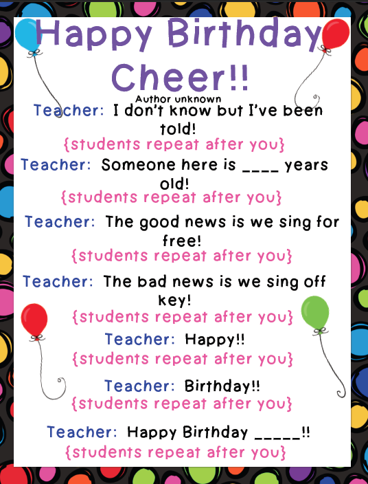 Happy Birthday Student Cards Student's Birthday Card