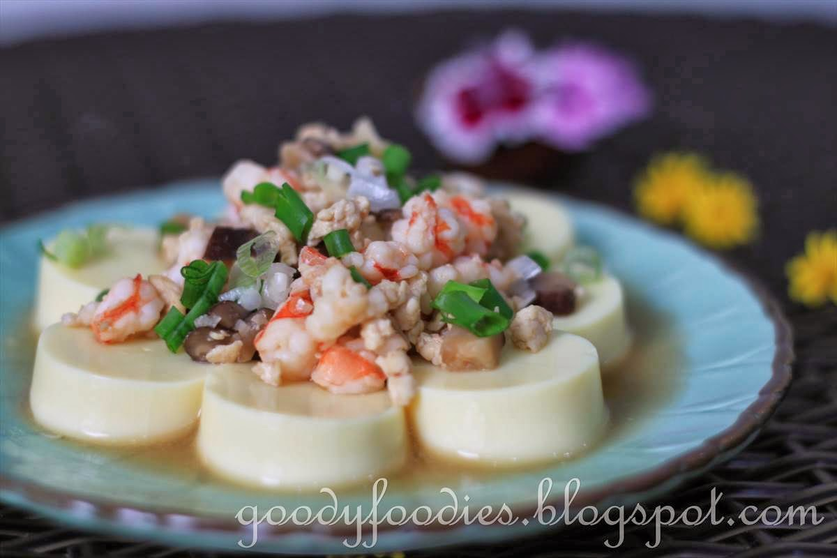 Goodyfoodies Recipe Japanese Egg Tofu With Minced