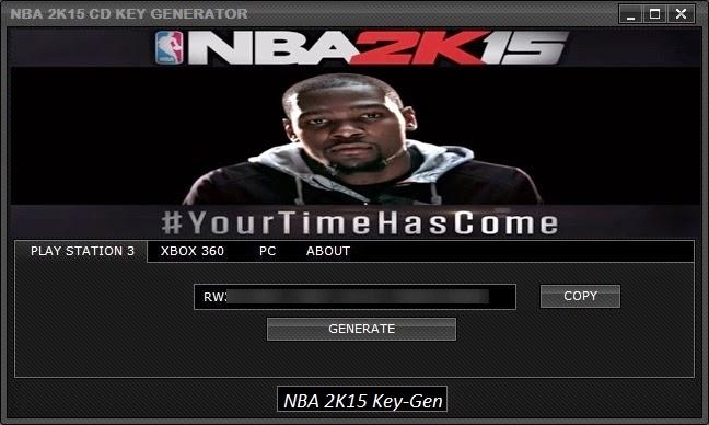 NBA 2K15 Key Generator