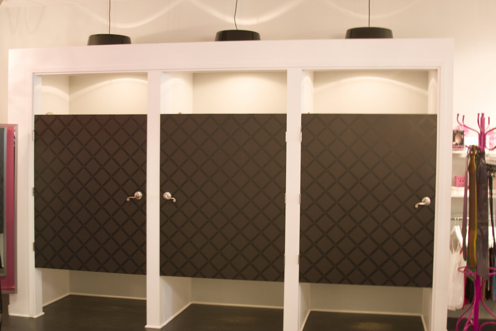 Custom Changing Rooms with Customized Lighting and Doors