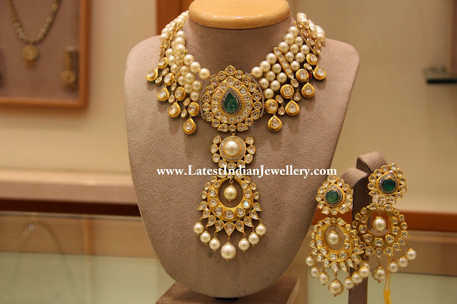 Pearls and Kundan Bridal Set