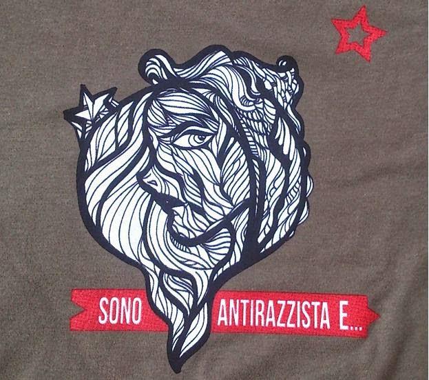 """Maglie """"Sono Antirazzista E"""""""