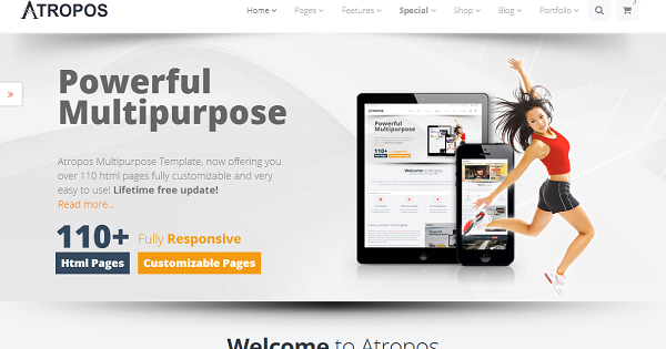 boostrap theme  download atropos