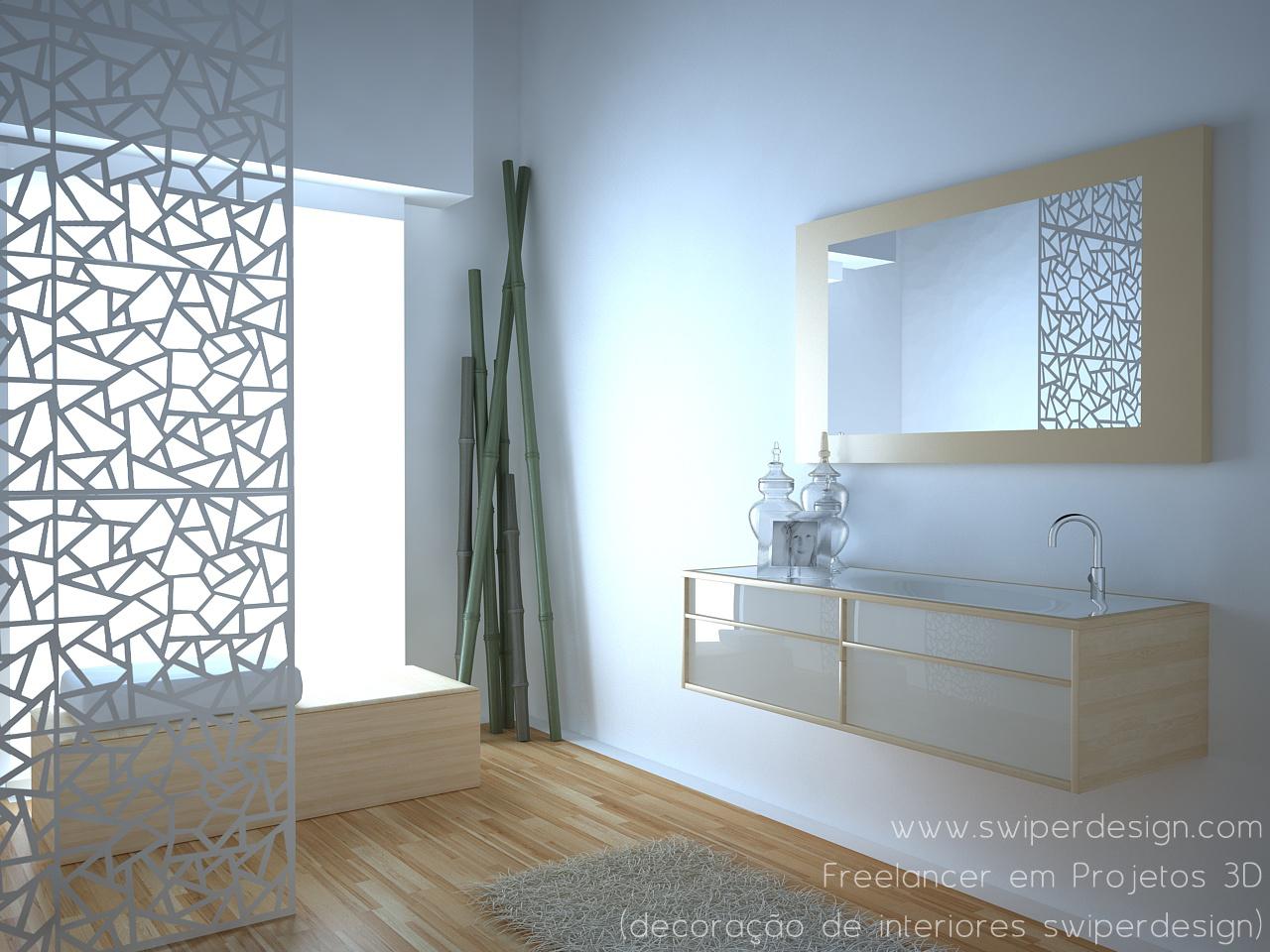 Decoração Wc ~ Projectos3D& Design Projeto 3D de WC por SWIPERdesign (decoraç u00e3o de SWIPERdesign)