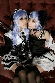 Tasha and Ren cosplay as Vocaloid Anti the Holic Luka and Rin