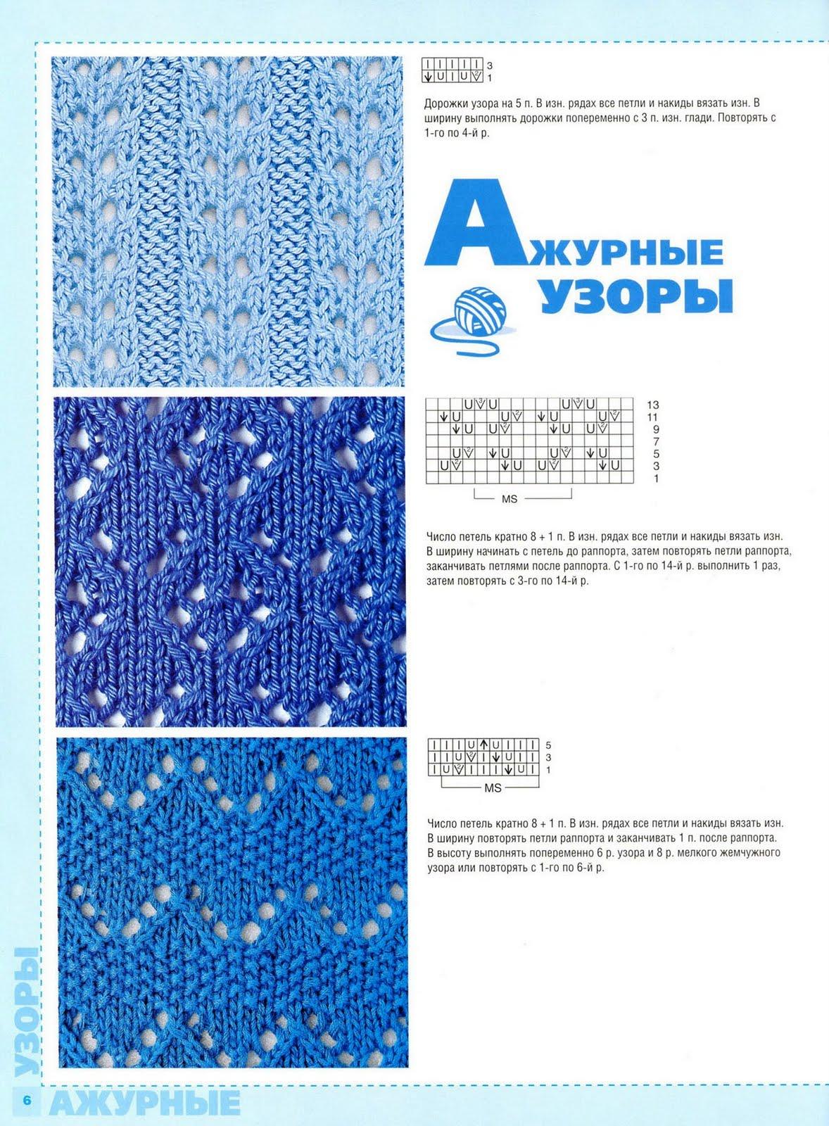 Схема вязания с накидами