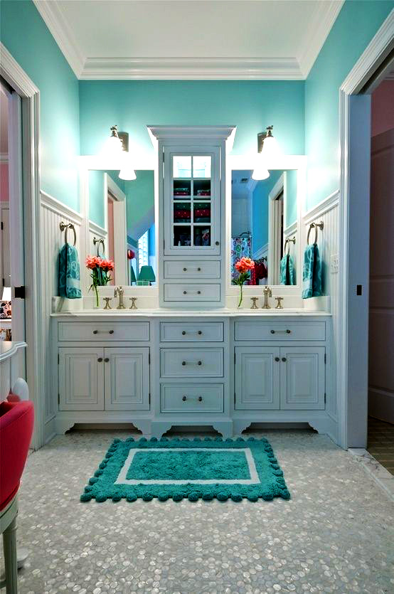 Home Decor Ideas Tiffany Blue Bathroom