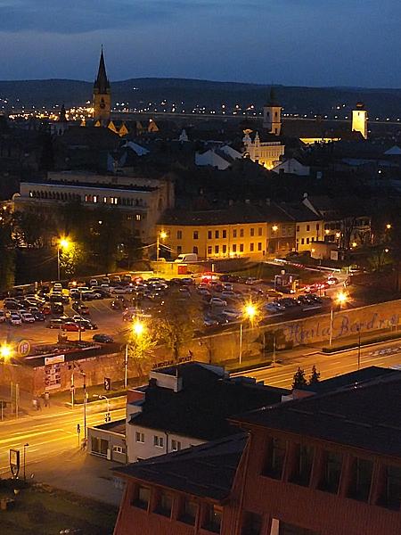 centrul istoric sibiu noaptea