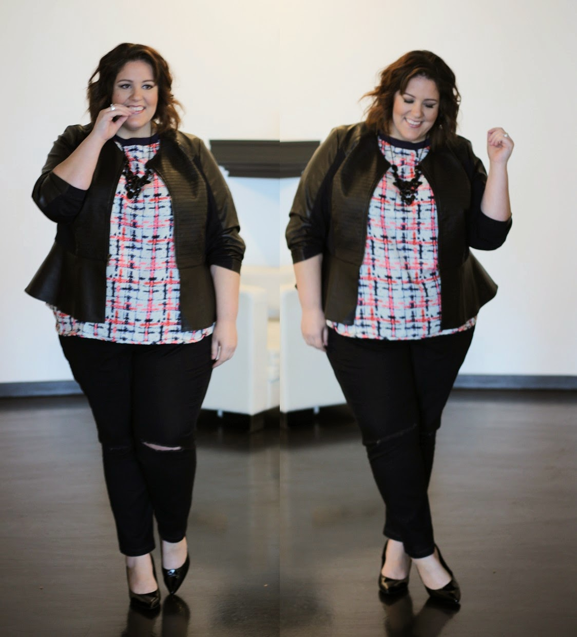 The perfect plus size black ripped knee skinny jean! - Life and