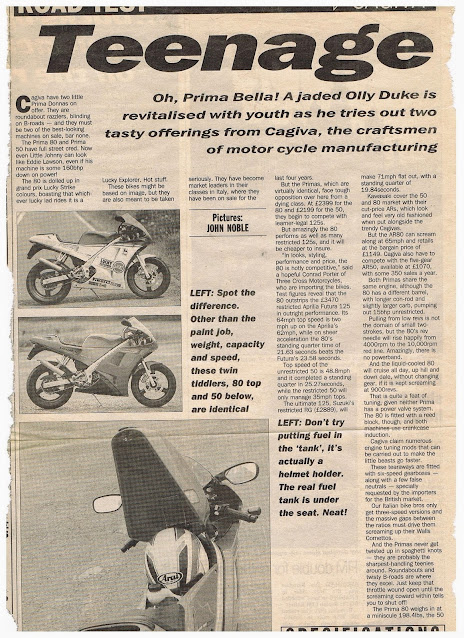 Cagiva Prima 50 Articles technical specs and free workshop manual