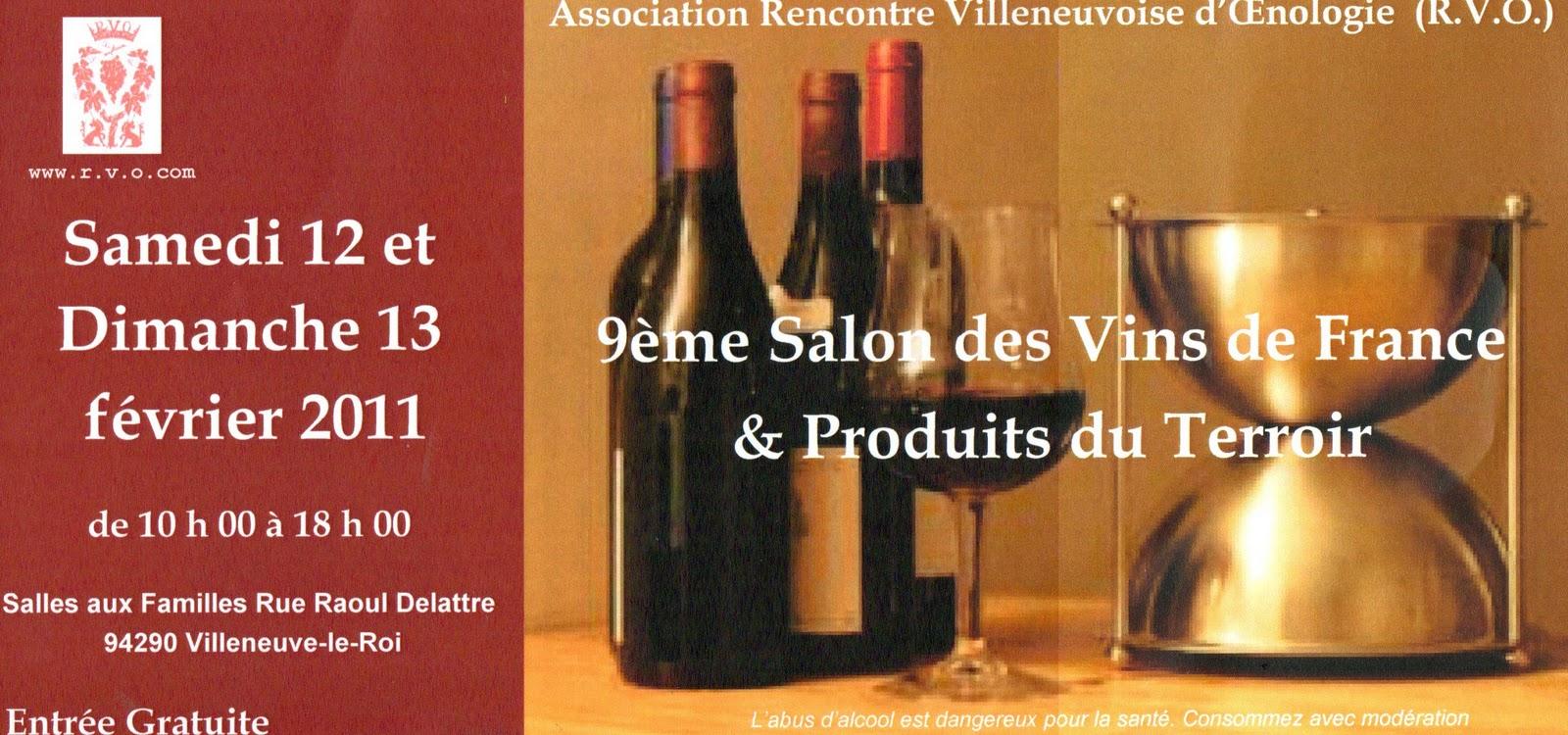 Villeneuve le roi en vrac 9 me salon des vins de france for Salon des vins de france