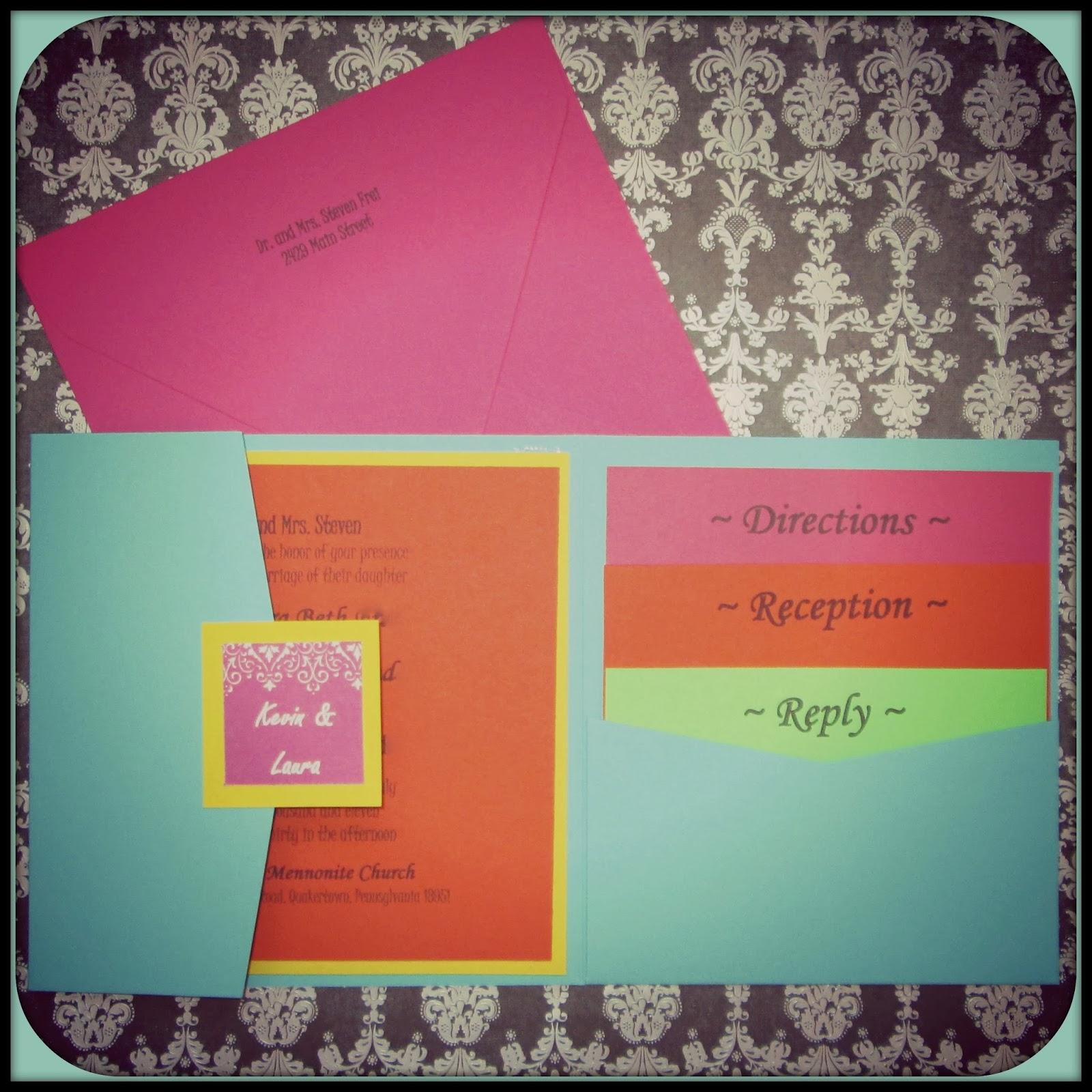 Laura\'s Plans: Summer Wedding Pocket Invitations