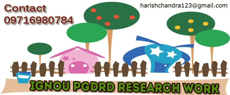 IGNOU PGDRD Research Paper