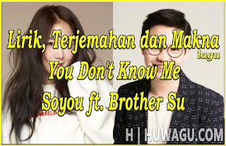 Lirik, Terjemahan dan Makna Lagu You Don't Know Me ~ Soyou ft. Brother Su (OST. She was Pretty)