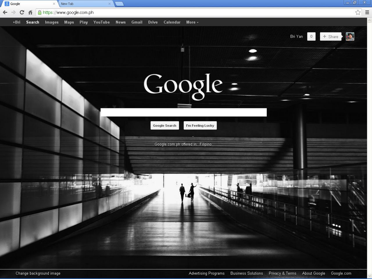 How to change google browser background image howtoquick net for Homepage wallpaper