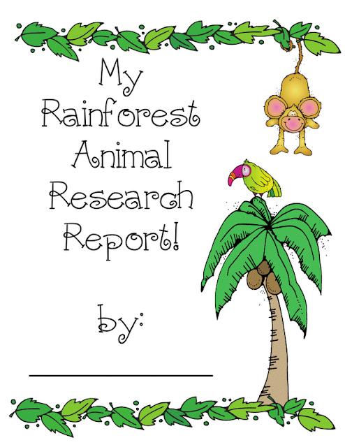 rainforest writing paper