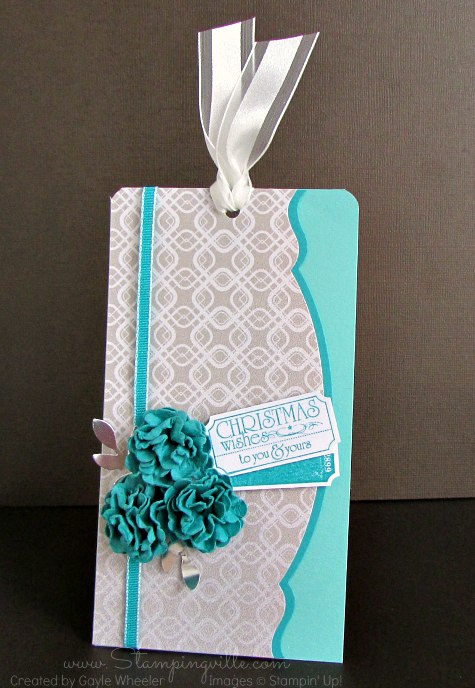 Elegant Christmas Wishes Gift Tag