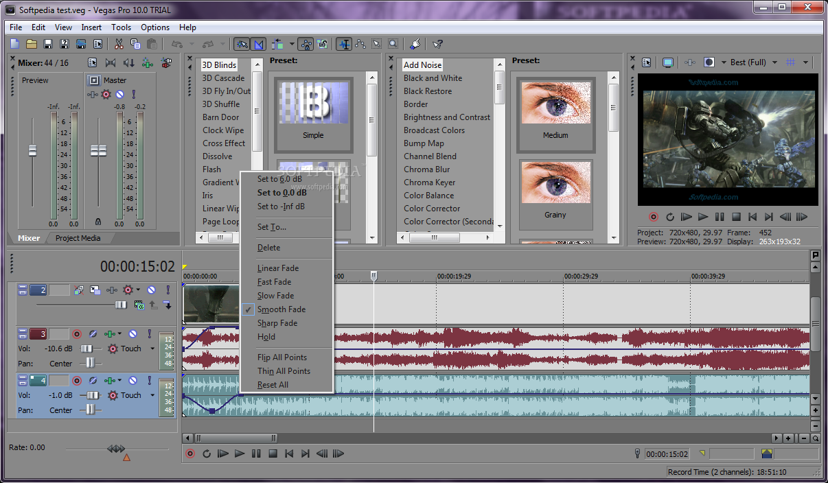 برنامج sony vegas 2014 لتشغيل الملفات الصوتية والفيديو