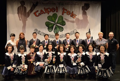 Taipei Irish Dance Academy at the first Taipei Feis in Taiwan Photo: courtesy Yi-han Hsiao