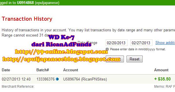 Pembayaran ketujuh dari RicanAdFunds