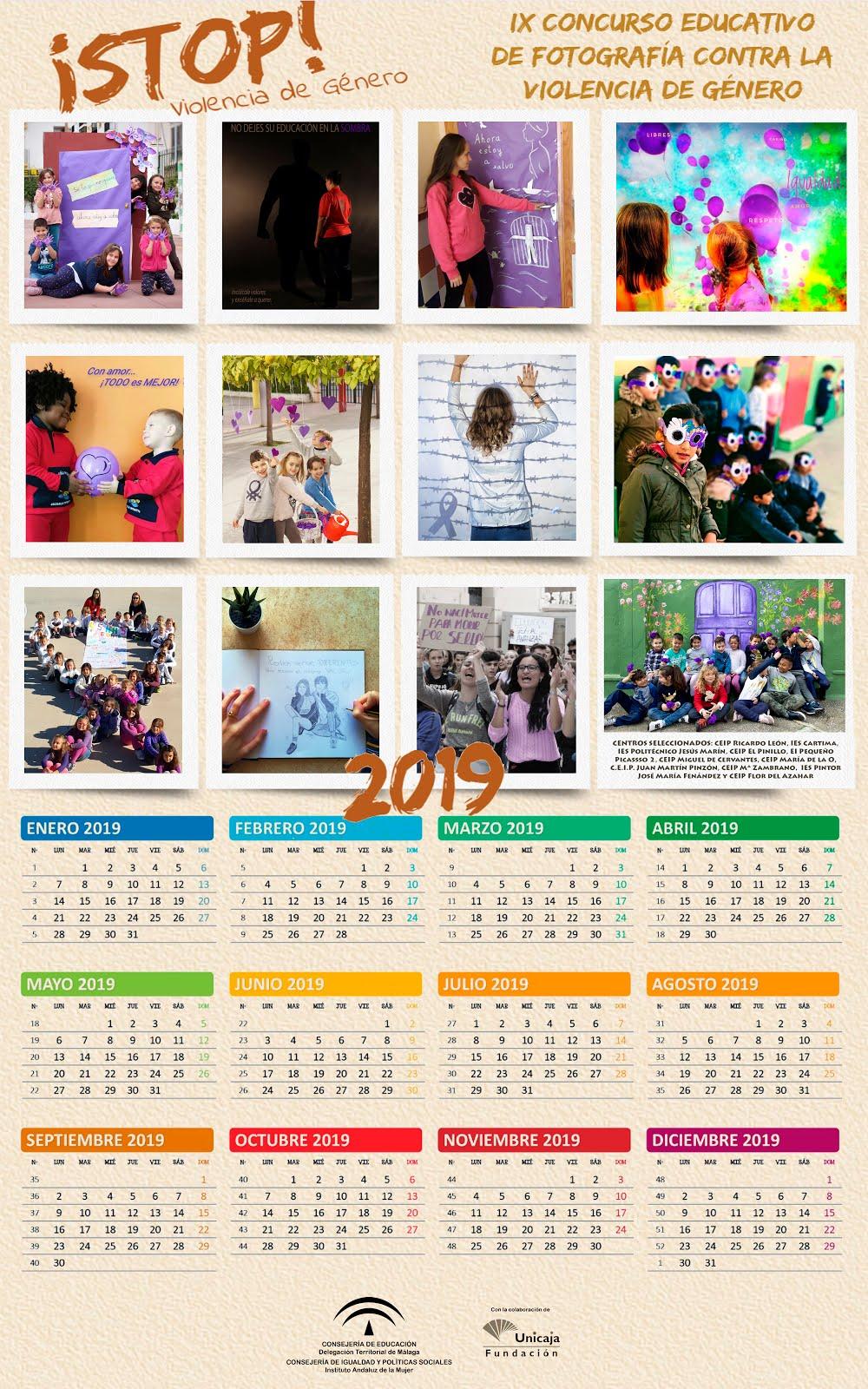 Calendario 2019 contra la violencia de género