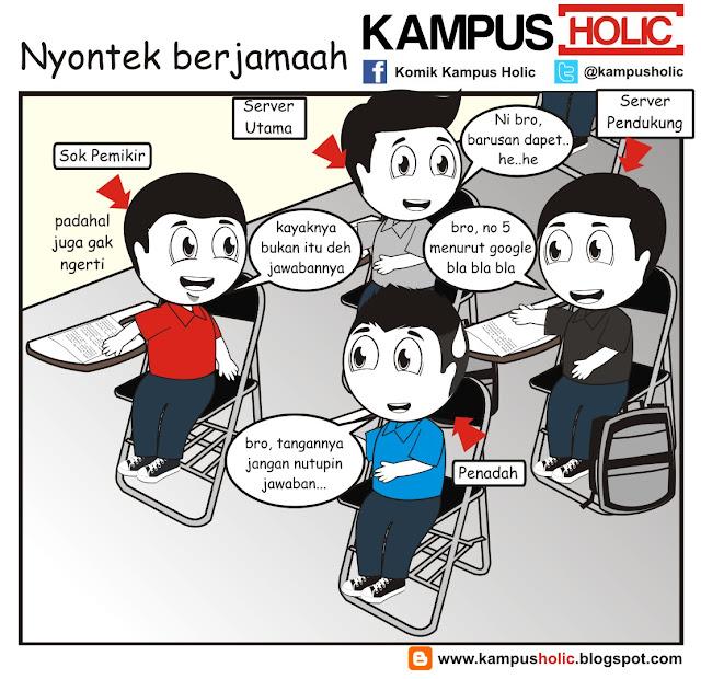 #182 Nyontek berjamaah, jangan di contoh.. ala komik kampus holic