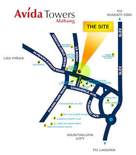 Avida Towers Alabang Location Map