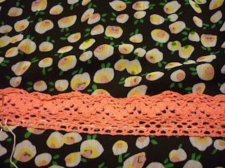 falda fácil modistilla de pacotilla sin patrón puntilla ganchillo bajo falda